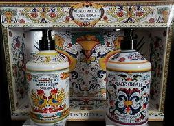 Perfume Italian Deruta hand soap Set of 2: Orange Blossom +