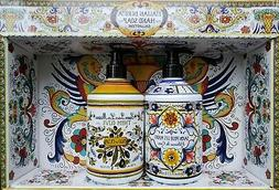 Italian Deruta hand soap 2pc.Olive+Coconut. Buy 2x2 sets -pa