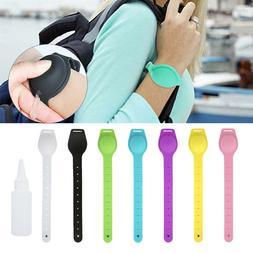 Portable Silicone Bracelet Wristband Hand Soap Dispenser Ban