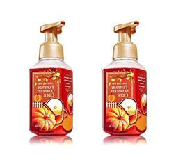 Set of 2 Bath and Body Works Pumpkin Cranberry Cider Foaming