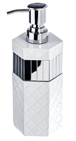 Quilted Mirror Hand Soap Dispenser  Countertop Decorative Lo