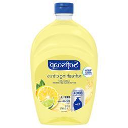 Softsoap Refreshing Citrus Yellow Hand Soap Refill 50oz Kitc