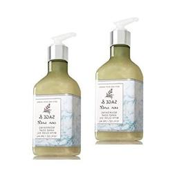 Set of 2 Bath and Body Works Sage and Sea Salt Hand Soap wit