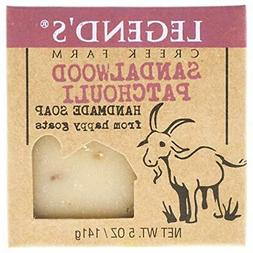 Sandalwood Patchouli Goat Milk Soap - 5 Oz Bar - Great For S
