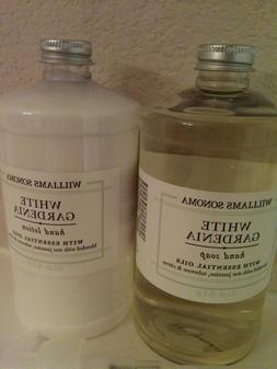 Set of 2 WILLIAMS SONOMA White Gardenia Hand Soap & Lotion16