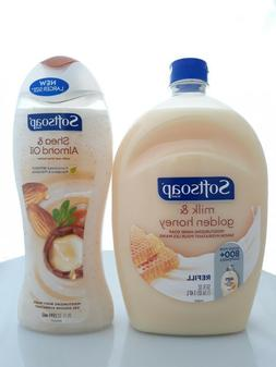 Set of SoftSoap Hand Soap Milk & Golden Honey and Body Wash