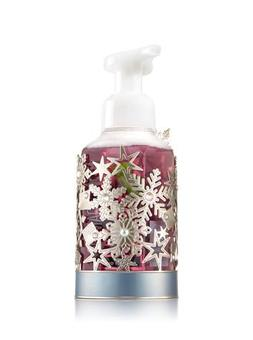 Bath and Body Works Silver Snowflake Hand Soap Sleeve.