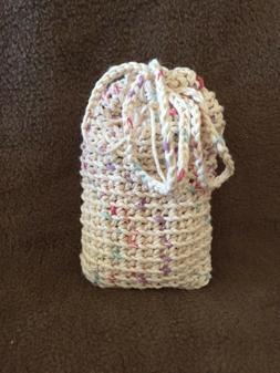 Soap saver,soap sack,wash cloth,100% cotton pouch,hand croch