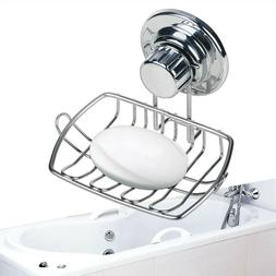 Stainless Steel Suction Cup Soap Dish Wall Holder Basket Bat