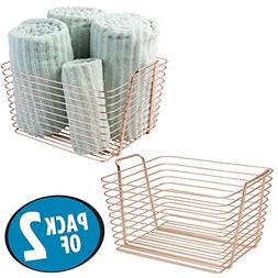 mDesign Storage Basket Bin with Built-in Handles for Organiz