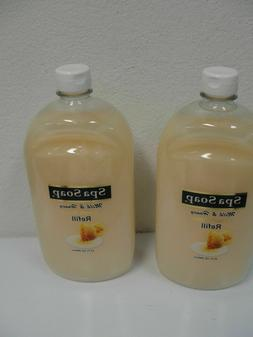Two  Bottles Spa Hand Soap Milk, Honey, Apple, Cucumber, Ant