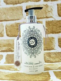 Vivian Gray WHITE TEA & MAGNOLIA Cream Hand Soap 13.5oz Germ