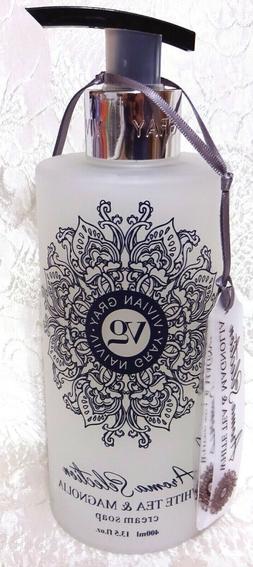 Vivian Gray WHITE TEA & MAGNOLIA Cream Hand Soap 13.5 oz, Ma