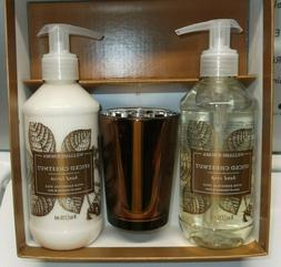 Williams Sonoma Spiced Chestnut Guest Essentials Set Candle