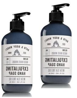 Bath and Body Works 2 Pack Winter White Woods Exfoliating Ha